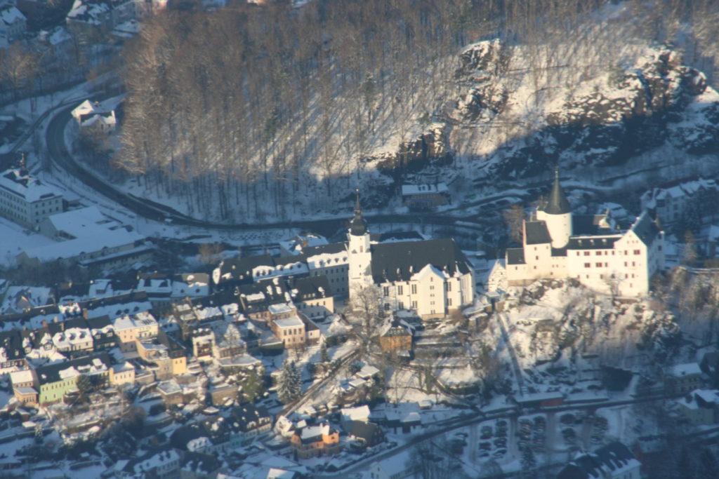 Rundflug Erzgebirge im Winter